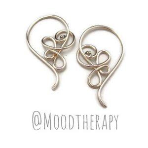 Victorian style upside down hoop earrings